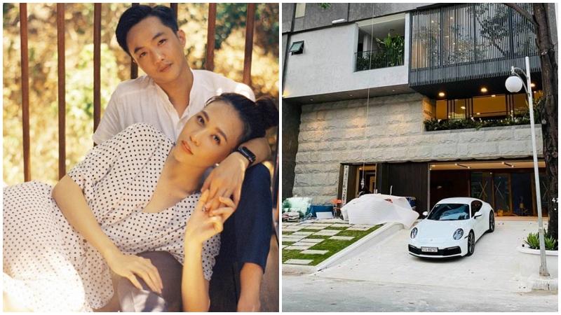 Đàm Thu Trang khoe một góc biệt thự sang trọng cũng đủ choáng ngợp, nhìn sang hai chiếc siêu xe thì thấy đẳng cấp của sự giàu có