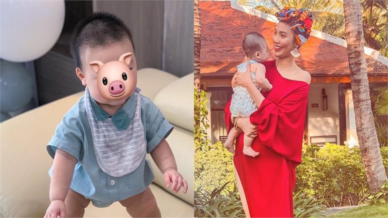 Lan Khuê tự hào khoe con trai mới 8 tháng tuổi đã biết đứng vững mà không cần có sự hỗ trợ của mẹ