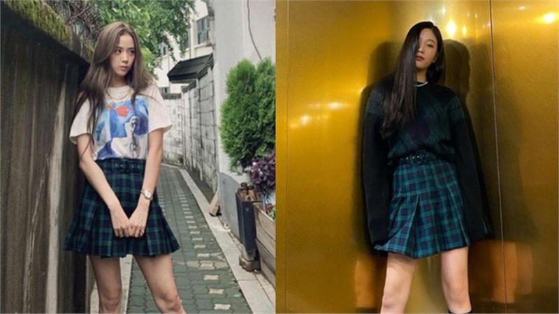Không cần mix đồ trúc trắc như Joy (Red Velvet), Jisoo nhìn như nữ sinh khi chỉ cần một chiếc áo phông đơn giản