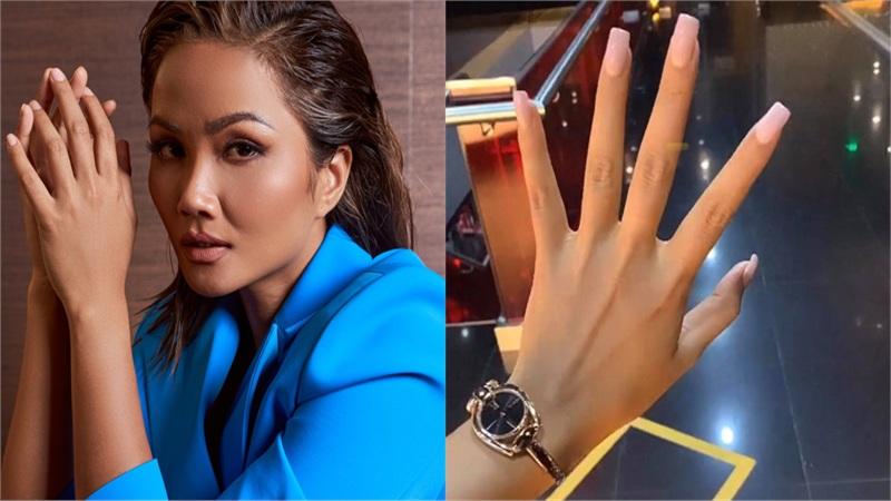 Hoa hậu H'Hen Niê nói lên 'tiếng lòng' của hội chị em ghiền nail: Bảo sao cả Vbiz đua nhau làm móng dài nhoằng