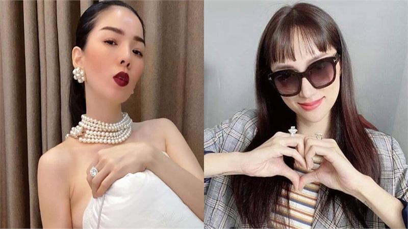 Không khoe hàng hiệu, Hương Giang, Lý Nhã Kỳ, Lệ Quyên khiến fan choáng với nhẫn kim cương siêu to khổng lồ