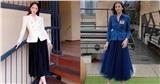 Hương Giang, Đỗ Mỹ Linh, Lương Thùy Linh ghi điểm mạnh nhờ set đồ thời trang kinh điển