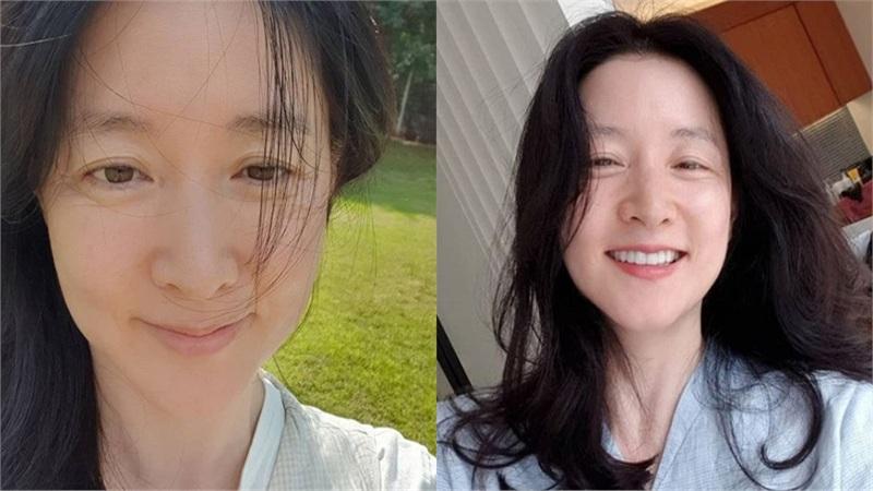 Lộ nếp nhăn khi khoe mặt mộc tuổi 50 nhưng nàng 'Dae Jang Geum' Lee Young Ae vẫn được khen nức nở