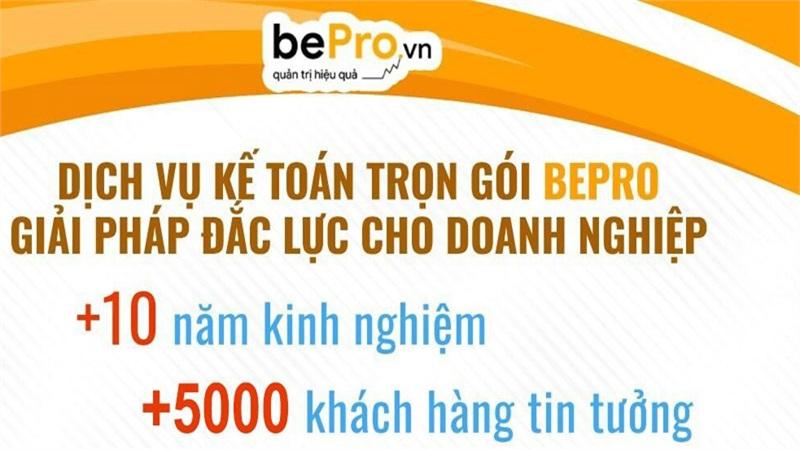 BePro.vn - Chuyên nghiệp hóa hoạt động kế toán với chi phí hợp lý