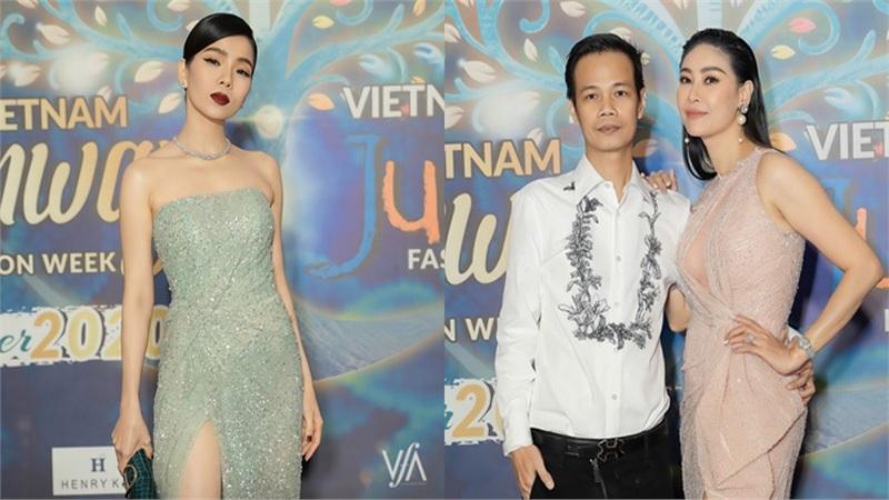 Hà Kiều Anh, Lệ Quyên lộng lẫy trên thảm đỏ Vietnam Runway Fashion Week