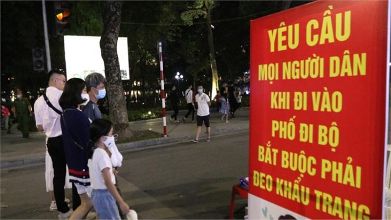Sáng 12/11, không ca mắc COVID-19, Hà Nội đưa ra 5 địa điểm kiểm soát việc đeo khẩu trang