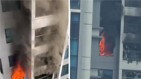 Hà Nội: Cháy lớn tại căn hộ chung cư Goldmark City, nhiều người dân hốt hoảng ôm con nhỏ tháo chạy