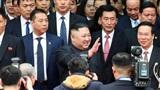 Hình ảnh ông Kim Jong-un lần đầu xuất hiện tại Việt Nam qua ống kính phóng viên quốc tế