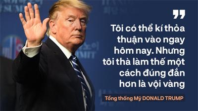 Tổng thống Trump: 'Mối quan hệ Mỹ - Triều Tiên rất mạnh mẽ, nhưng đôi lúc bạn phải học cách bỏ qua'