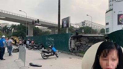 Nữ tài xế lái Mercedes gây tai nạn liên hoàn ở Hà Nội khai đạp nhầm chân ga