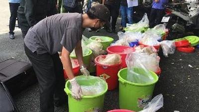 Cận cảnh nửa tấn ma túy trị giá 500 tỉ đồng đóng gói như hàng chợ do người Trung Quốc cầm đầu ở Sài Gòn