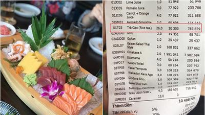 Ăn sushi nổi tiếng phố Kim Mã, team công sở giật mình thanh toán 12 triệu, riêng trà đá gần 1 triệu vì mắc 'bẫy' nhà hàng