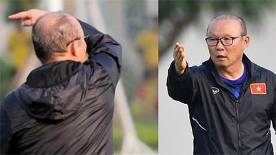 HLV Park Hang-seo nổi giận với cầu thủ CLB Phố Hiến sau hành động vô ý trong buổi tập của U22 Việt Nam