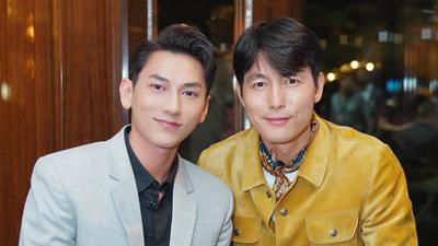 Isaac khoe vẻ điển trai cùng 'quí ông hoàn hảo' của điện ảnh Hàn Quốc Jung Woon Sung