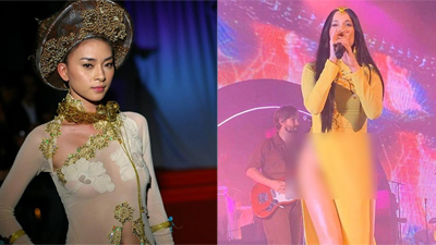 Vừa bức xúc sao ngoại mặc áo dài phản cảm, Ngô Thanh Vân bị chỉ trích vì từng có ảnh kém duyên tương tự