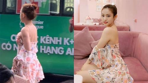 Thúy Vi bất chấp trời Hà Nội se lạnh vẫn mặc chiếc váy hoa mỏng tang nhưng bất ngờ hơn cả là bình luận của dân mạng khi nhìn thấy hot girl ngoài đời