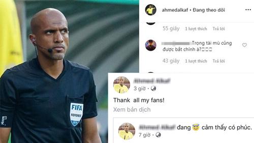 Trọng tài bắt trận Việt Nam - Thái Lan cảm ơn fan dù bị 'la ó' thậm tệ
