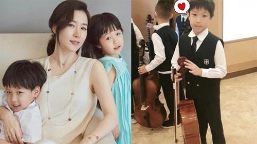 Nàng 'Dae Jang Geum' Lee Young Ae chia sẻ khoảnh khắc hiếm hoi của quý tử tại trường học