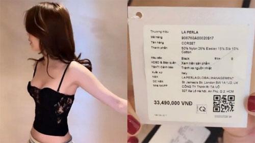 Sau vụ tố dùng hàng fake, Ngọc Trinh 'thả nhẹ' đoạn clip thử nội y giá hơn 33 triệu và bất ngờ hơn khi cô mặc size 0 còn rộng