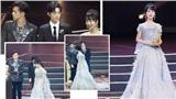 Lý Hiện và Tiêu Chiến bị chỉ trích khi không nâng váy giúp Dương Tử xuống sân khấu