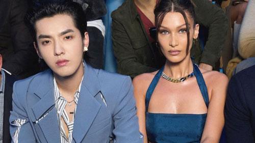 Ngô Diệc Phàm cùng chân dài Bella Hadid 'náo loạn' show Louis Vuitton khi ngồi hàng ghế đầu