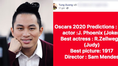 Tùng Dương cũng dự đoán Oscar nhưng viết sai tên phim, chỉnh sửa đến gần chục lần