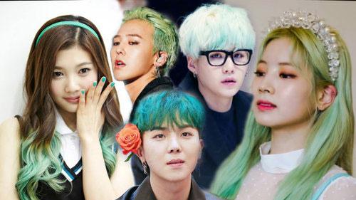 Tưởng không đẹp nhưng lại đẹp không tưởng, dàn sao Hàn lên đời nhan sắc nhờ nhuộm tóc xanh lá cây