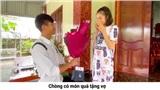Valentine đầu tiên bên nhau, Văn Đức tặng vợ quà 'siêu to khổng lồ'