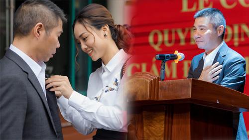 NSND Công Lý rạng rỡ cầm 'tờ A4', nhận chức Phó giám đốc Nhà hát kịch Hà Nội