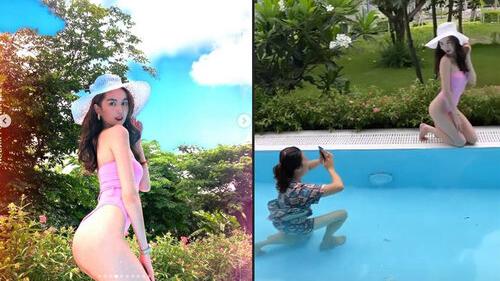 Ngắm loạt ảnh Ngọc Trinh cực gợi cảm với bikini, dân tình bất ngờ khi biết danh tính người chụp ảnh