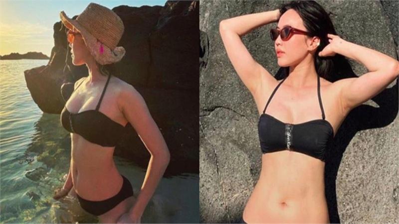 Diệu Nhi gây bất ngờ khi diện bikini khoe vóc dáng săn chắc