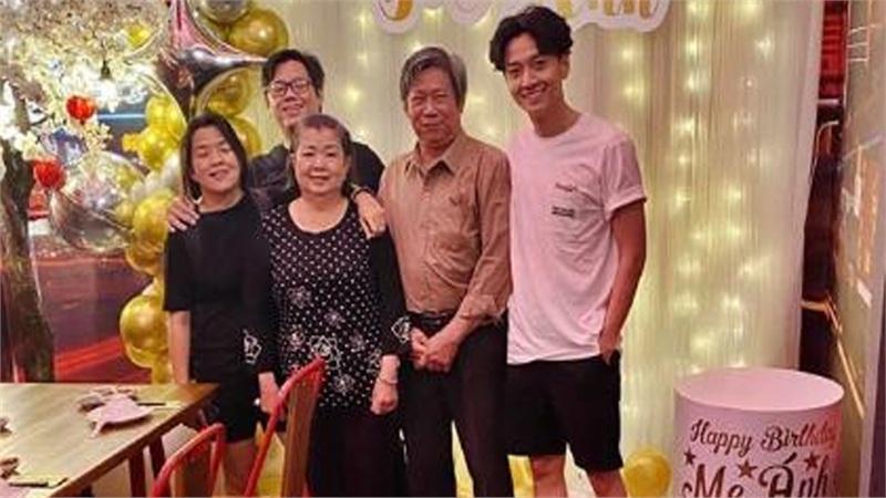 Ngô Kiến Huy lộ thân hình gầy gò trong bữa tiệc sinh nhật của mẹ