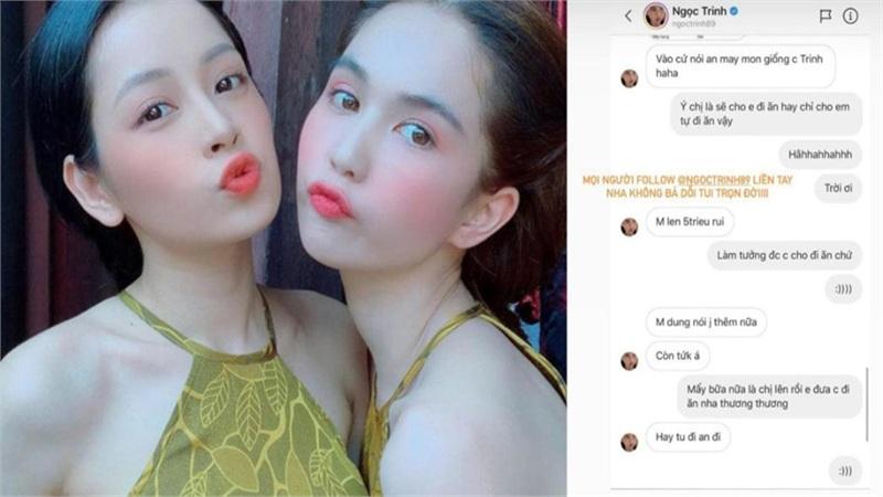 Rủ Chi Pu đi ăn, Ngọc Trinh bất ngờ 'bùng kèo' vì bị đàn em vượt mặt follow trên Instagram
