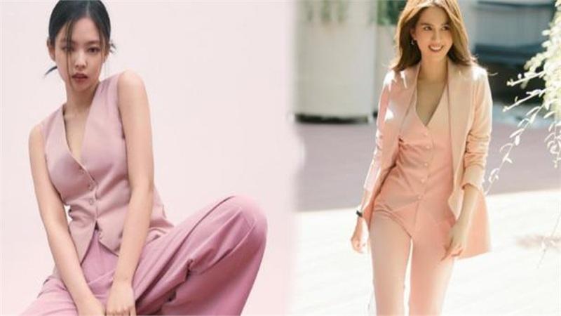 Ngọc Trinh & Jennie Black Pink chinh phục cả thiên hạ với suit hồng ngọt ngào