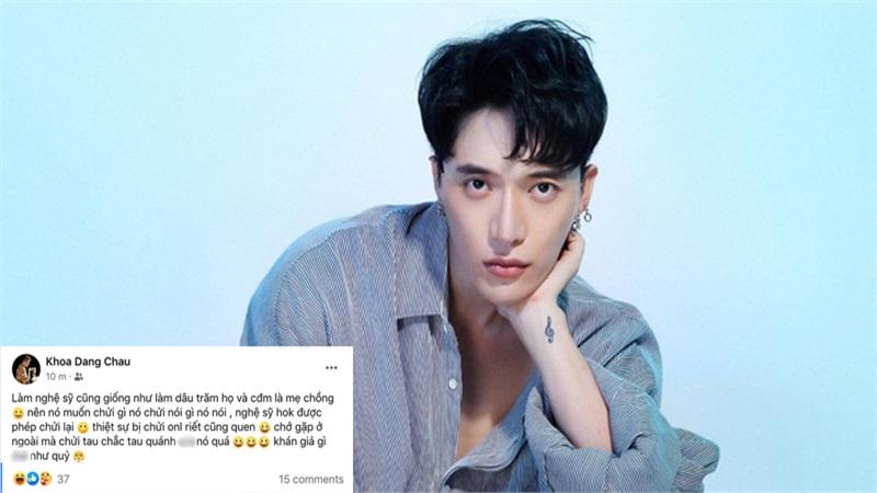 Châu Đăng Khoa xéo xắt gọi netizen là mẹ chồng, tuyên bố nghe chửi mãi thành quen
