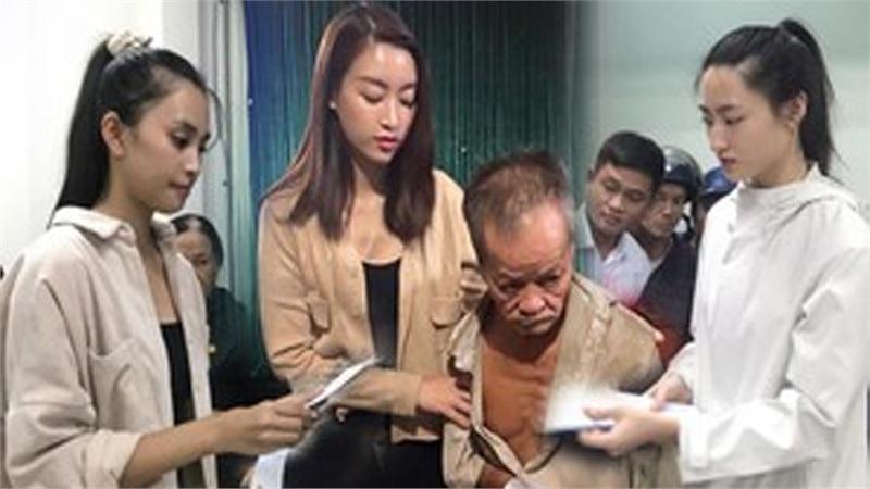 Vừa đến Huế, Đỗ Mỹ Linh - Tiểu Vy - Lương Thuỳ Linh đã gấp rút đến thăm người dân khó khăn sau bão