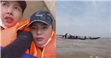 Kỳ Duyên - Minh Triệu bị lật thuyền khi đang đi cứu trợ đồng bào miền Trung