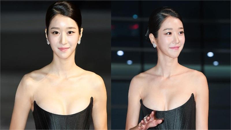 'Điên nữ' Seo Ye Ji gây sốt MXH xứ Hàn vì diện váy táo bạo khoe vòng 1 'ngồn ngộn' như sắp tràn ra ngoài