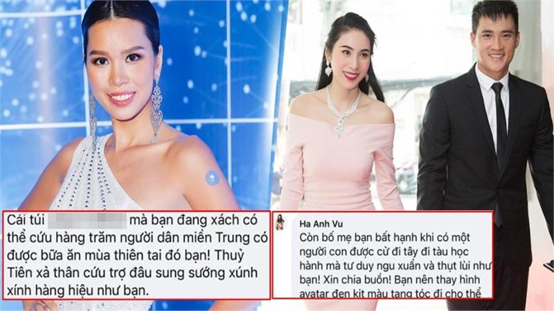 Bị anti-fan so với Thủy Tiên vì không giúp miền Trung, Hà Anh đáp trả: 'Bạn đổi avatar đen tang tóc đi'