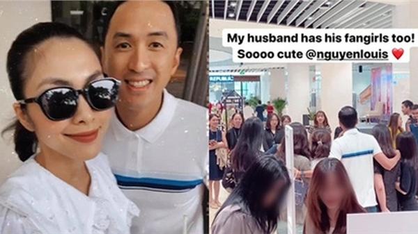 Phát hiện chồng được nhiều cô gái vây quanh, đây là phản ứng của Tăng Thanh Hà
