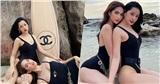 Ngọc Trinh - Chi Pu khoe body quyến rũ với bikini sành điệu: Bộ ảnh 10 tháng chuẩn bị khiến fan mê mẩn