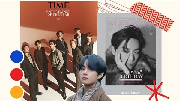 Fan chơi lớn, quảng bá sinh nhật V (BTS) trên cả tạp chí Time