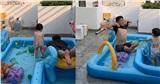 Nhã Phương khoe ảnh Trường Giang chơi đùa với con gái khi vợ đi làm sớm: 'Mười Khó' quá đáng yêu!