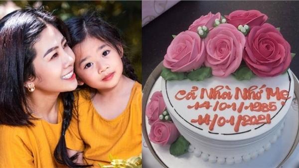 Bé Lavie tự tay chuẩn bị bánh sinh nhật cho cố nghệ sĩ Mai Phương