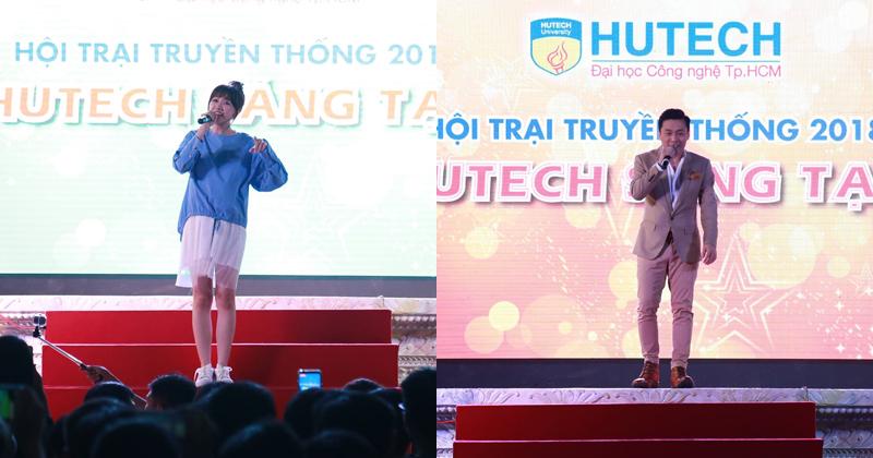 Anh Hai Lam Trường, Hari Won 'thắp lửa' Hội trại truyền thống sinh viên HUTECH