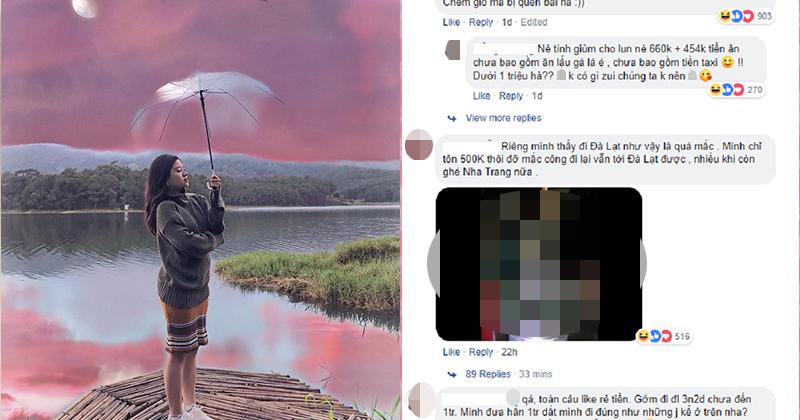 Cô gái đi du lịch Đà Lạt 3 ngày 2 đêm hết hơn 1 triệu đồng - Cư dân mạng tranh cãi đúng sai