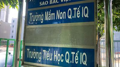 'Q.Tế' không phải là Quốc tế, vậy nó có nghĩa là gì thưa bà tư vấn viên Trường Mầm non IQ?