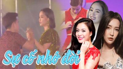Loạt sự cố 'dở khóc dở cười' xảy ra trên sân khấu khiến sao Việt chỉ muốn quên đi