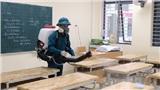 [Ảnh] Hà Nội: Các trường học vệ sinh, khử trùng để phòng dịch nCoV