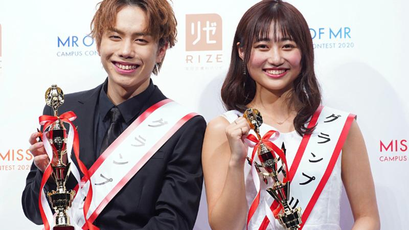 Nhan sắc gây tranh cãi của cặp đôi sinh viên đẹp nhất Nhật Bản 2020